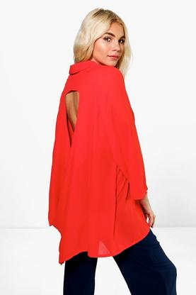 Maisie Draped Open Back Shirt