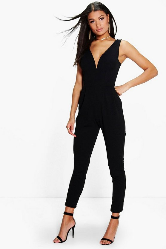 Molly Plunge Skinny Leg Jumpsuit