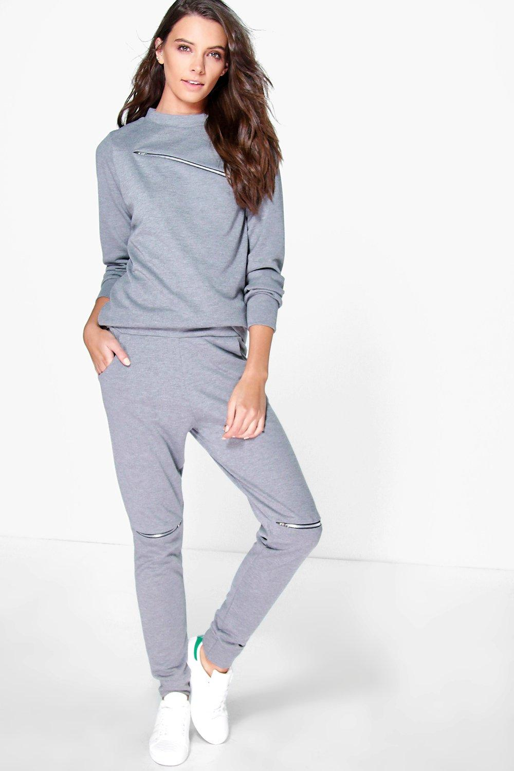 Lara Zip Detail Knitted Loungewear Set