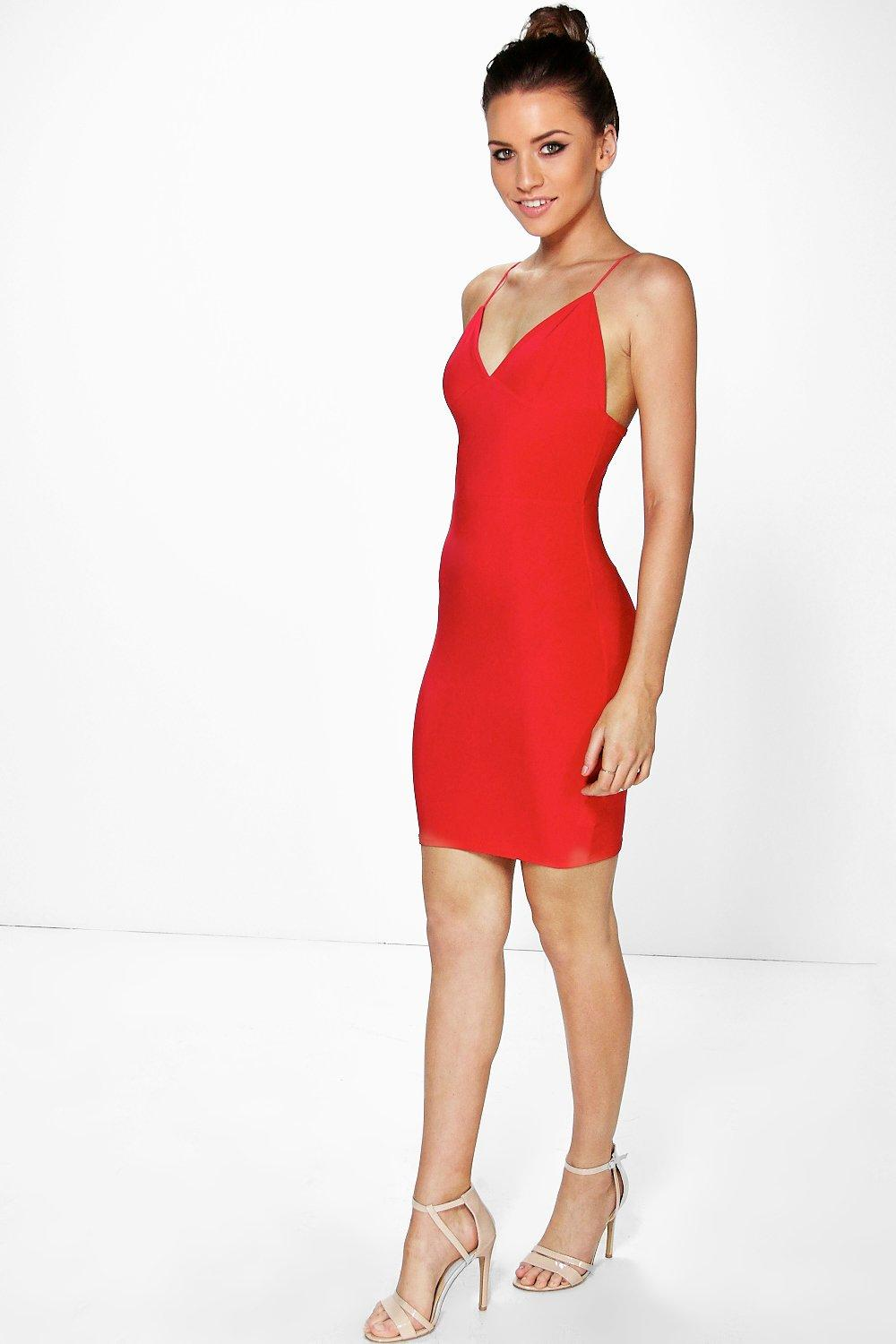 Karen Plunge Neck Bodycon Dress