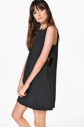 Aria Cut Out Tabard Side Shift Dress