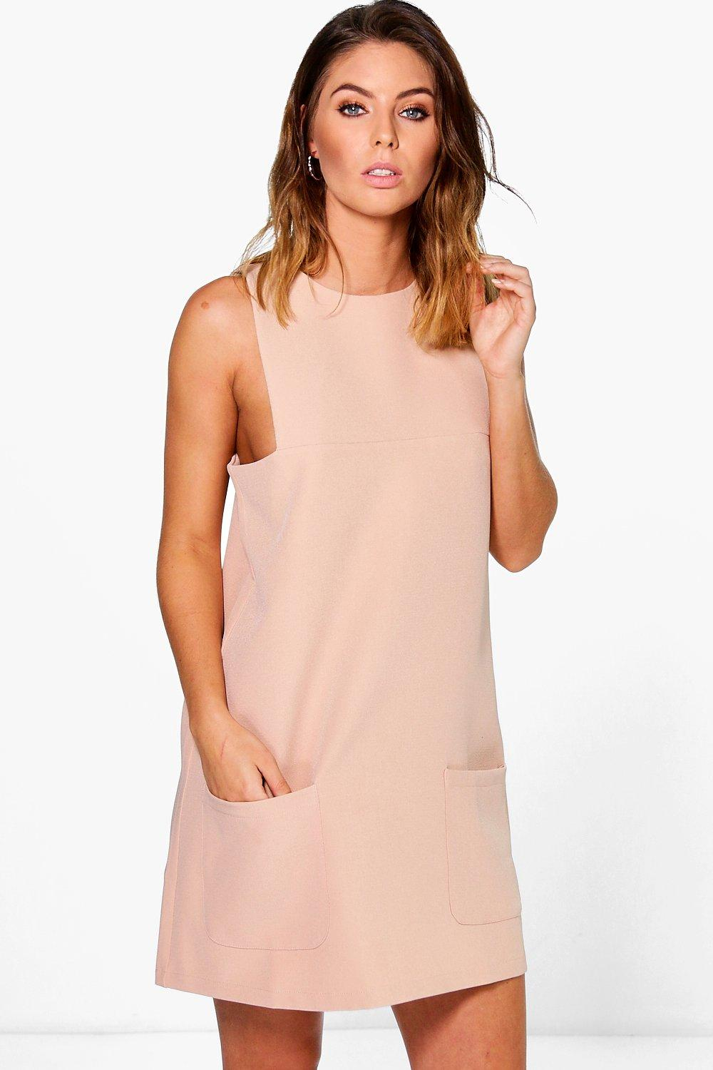 Kaela Cutaway Shift Dress