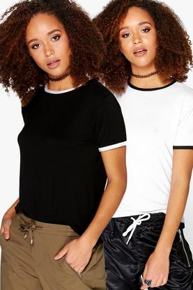 Lily 2 Pack Contrast Ringer Tee