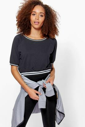 Lucy Supersoft Contrast Trim Top