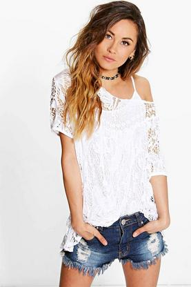 Lola Crochet Knit Top