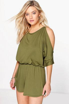 Ana Split Sleeve Jersey Playsuit
