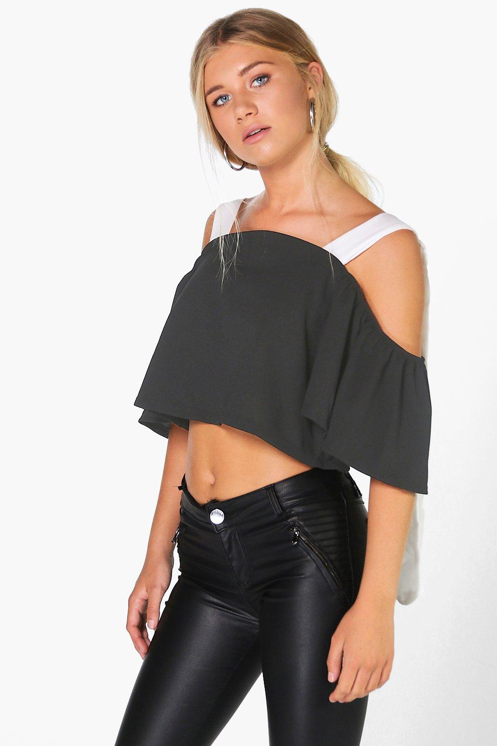 Olivia Woven Mono Off The Shoulder Top