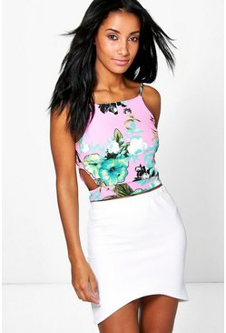Erin Textured Tropical Cut Out Crop