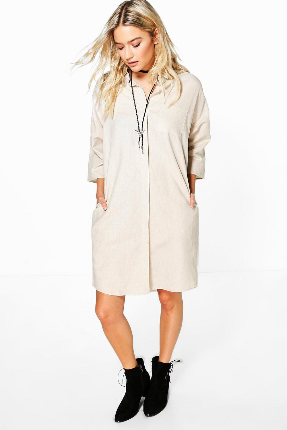 Rose Short Sleeved Oversized Shirt Dress