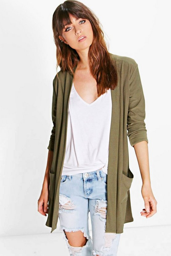 Faith Collarless Duster
