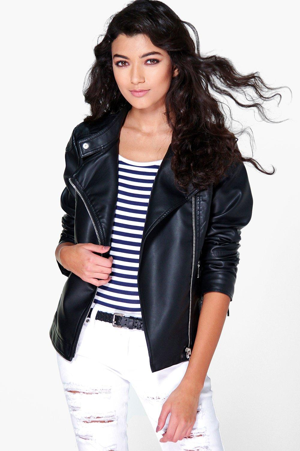 Eliza Quilted Faux Leather Biker