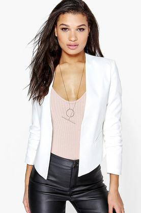 Alice Woven Lined Collarless Blazer