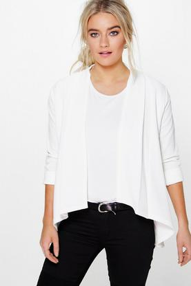 Millie Collarless Crepe Jacket
