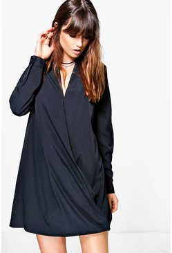 Antonette Wrap Shirt Dress