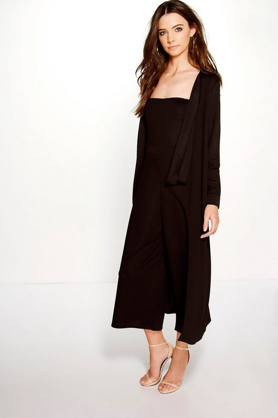 Izzy Bandeau Jumpsuit & Duster Co-Ord Set