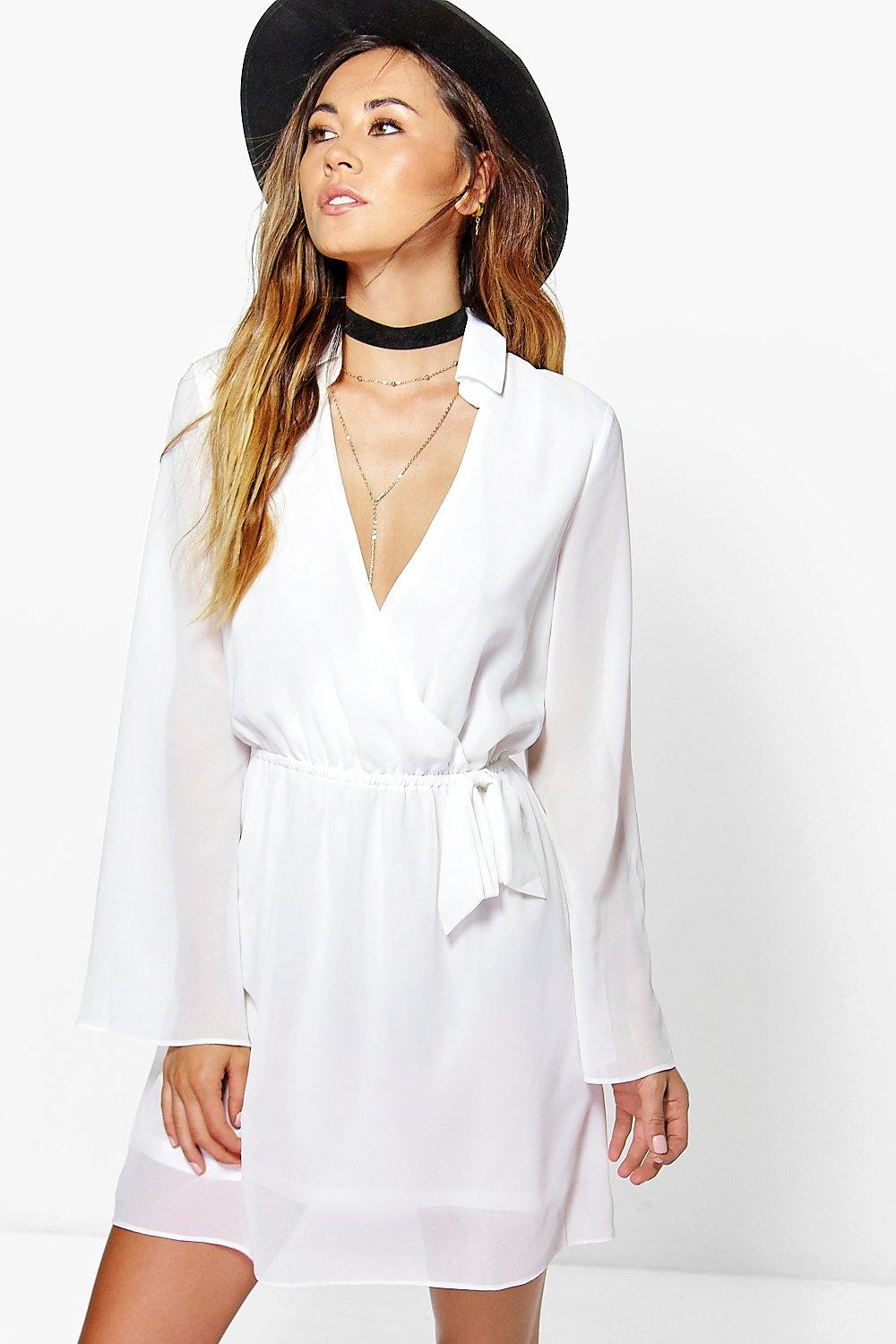 Mia Wrap Sleevless Shirt Dress