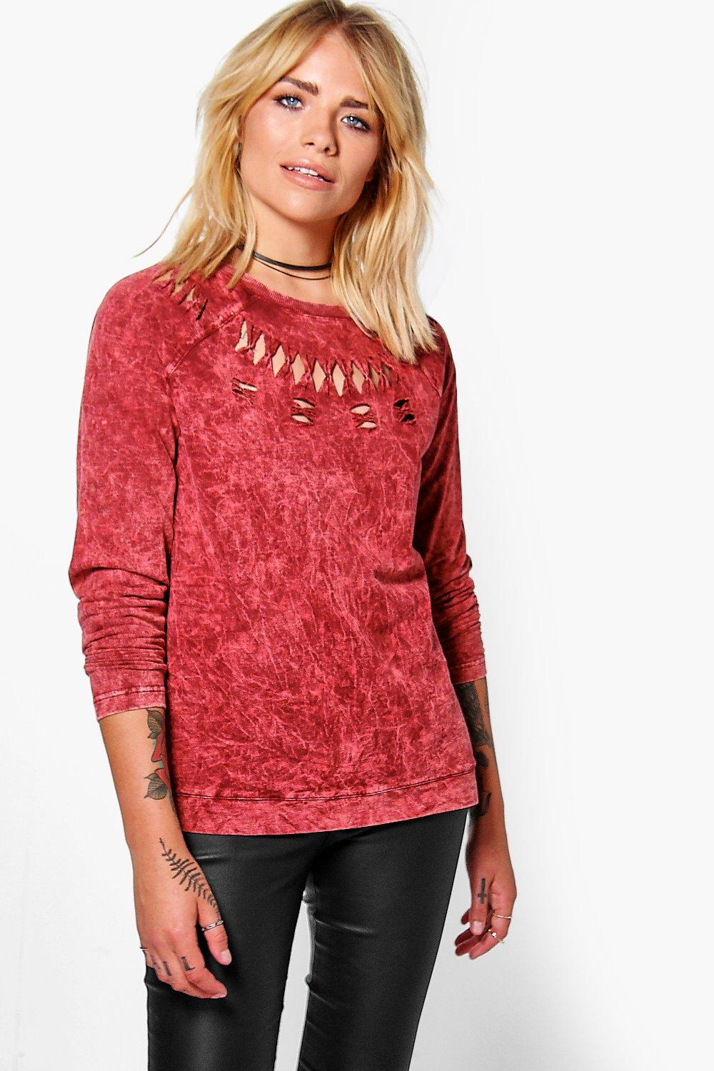 Imogen Washed Cut Out Sweatshirt