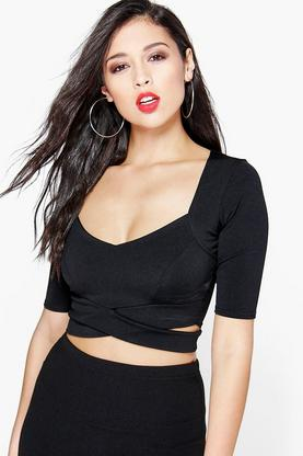 Sally Half Sleeve Cut Out Bralet