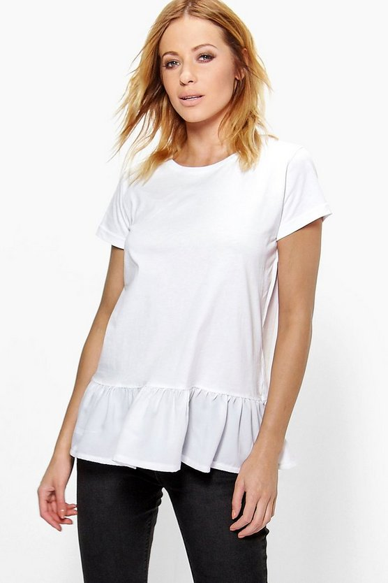 Lucy Oversized Peplum Cotton Tee