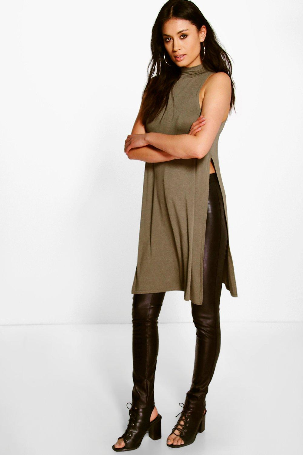 Ellie Split Side Jersey Longline Tunic