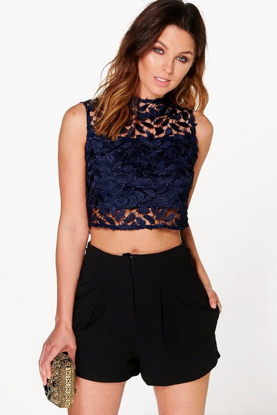 Layla Boutique Crochet Lace Crop Top