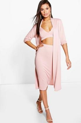 Tamara Bralet & Midi Skirt & Duster Co-Ord Set