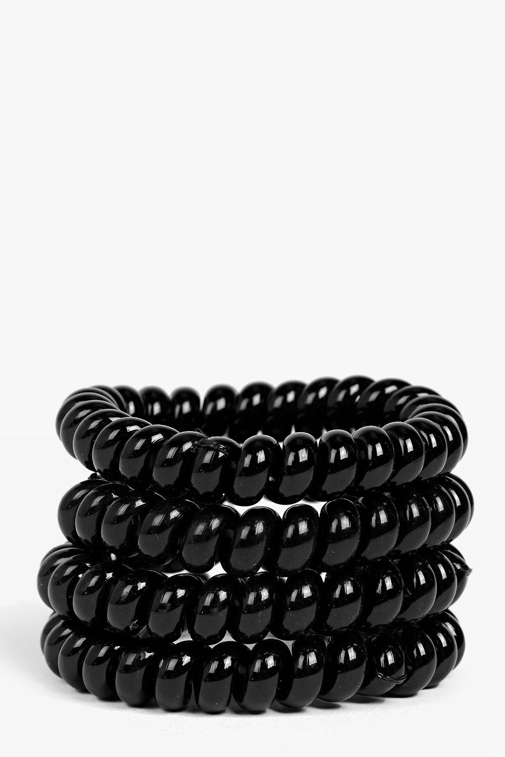 Tia Jelly Coil Hair Tie 4 Pack