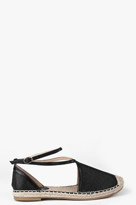 Lois Cross Strap Metallic Espadrille
