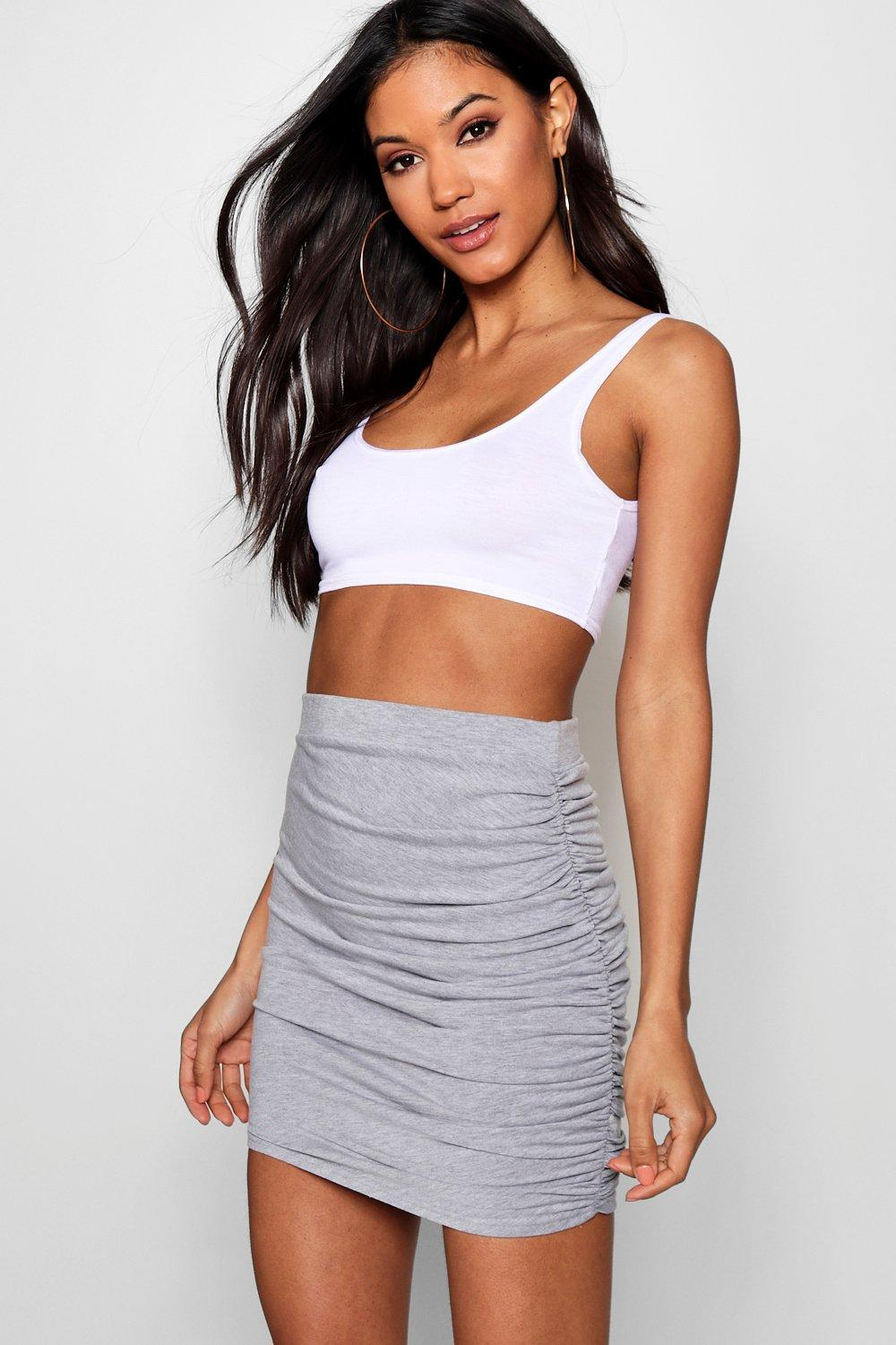 Esme Rouched Side Mini Skirt