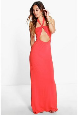Sara Bandeau Bow Front Maxi Dress