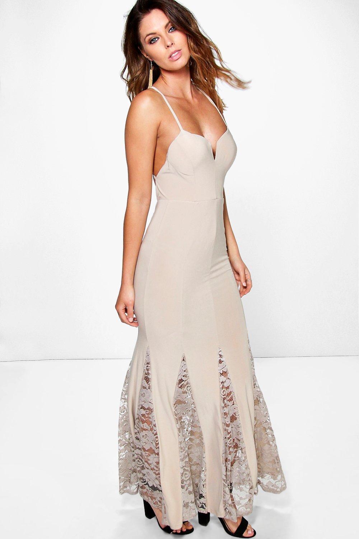 Lace hem dresses for women