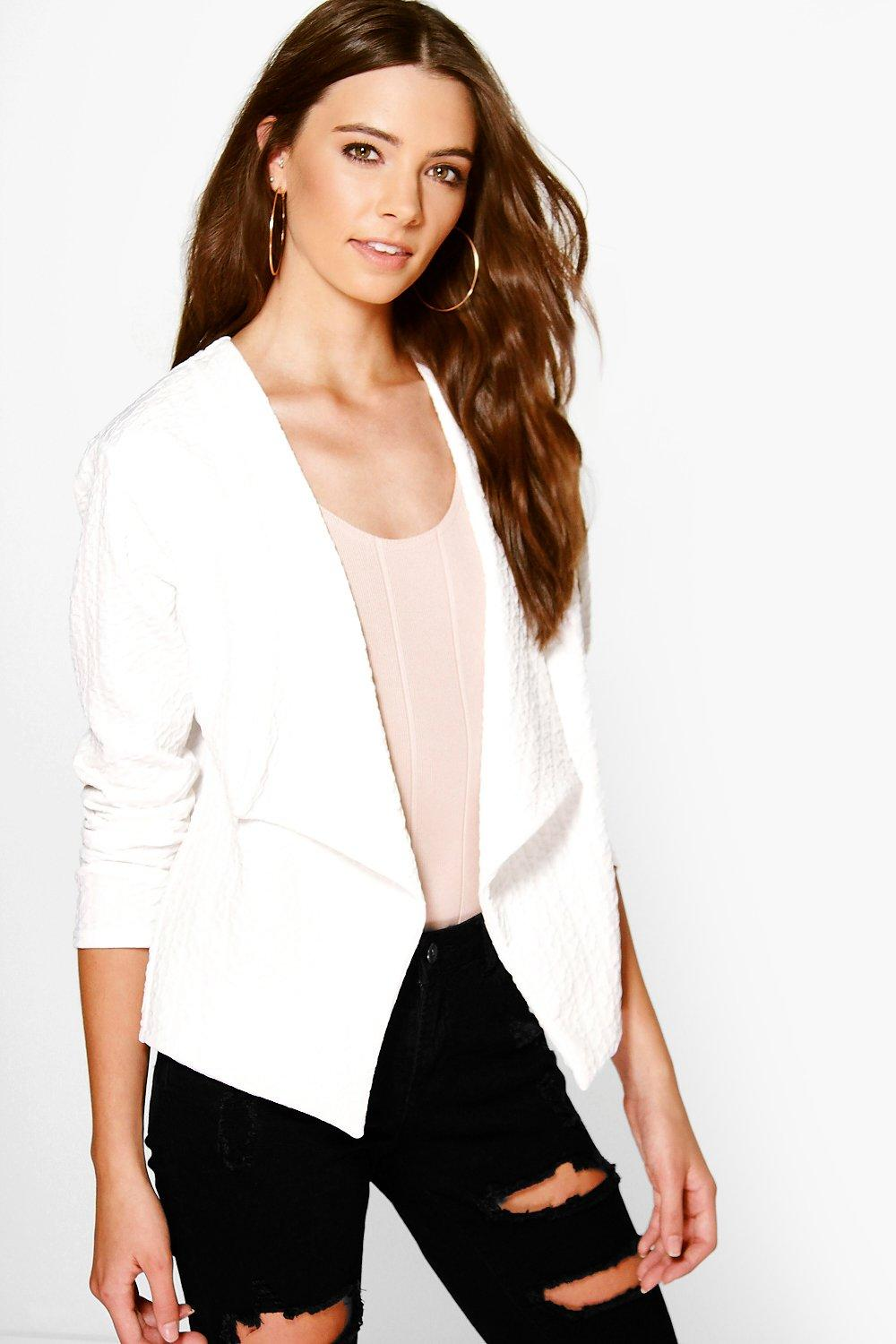 Jasmine Textured Waterfall Jacket