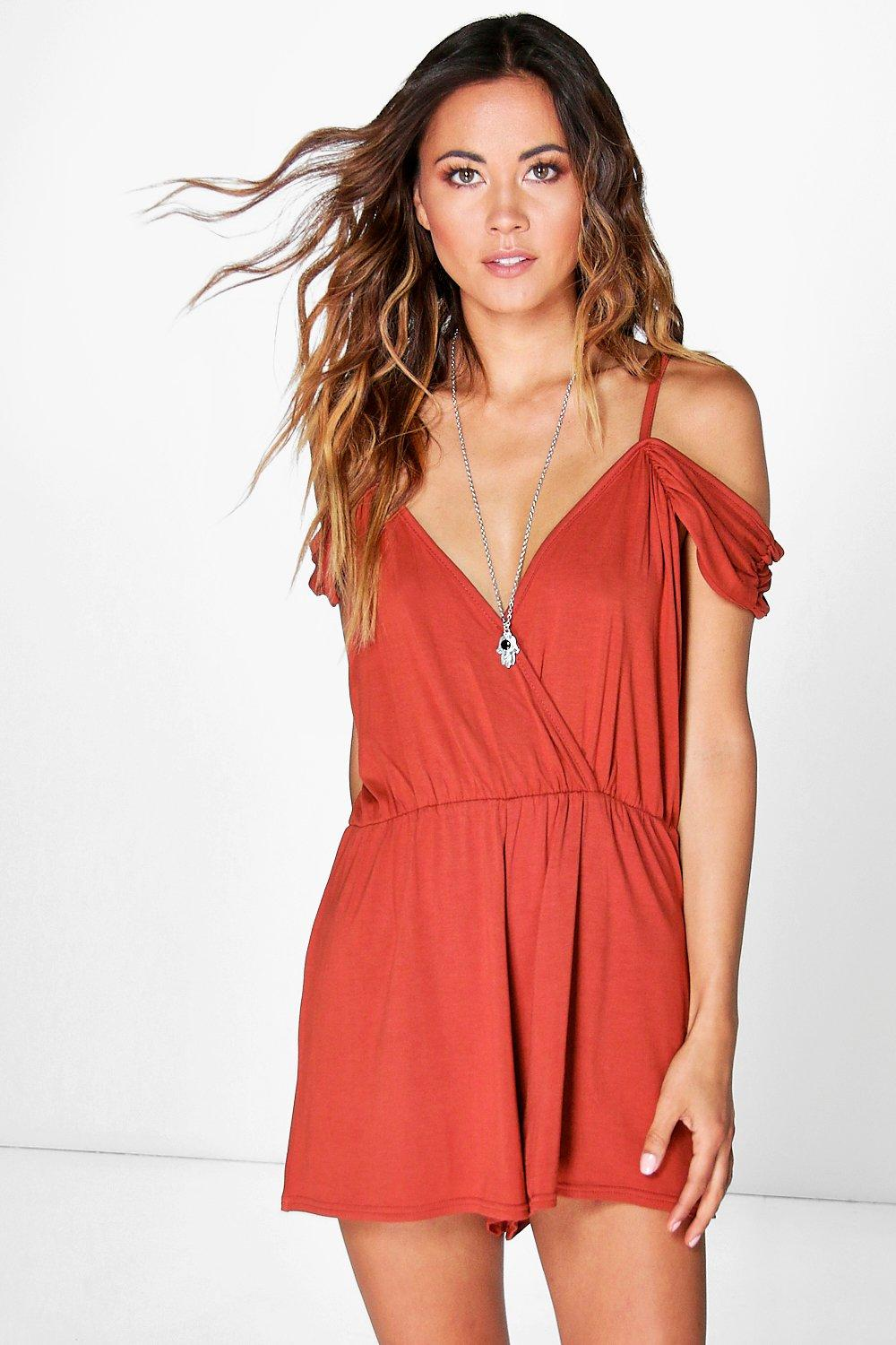 Lois Cold Shoulder Playsuit