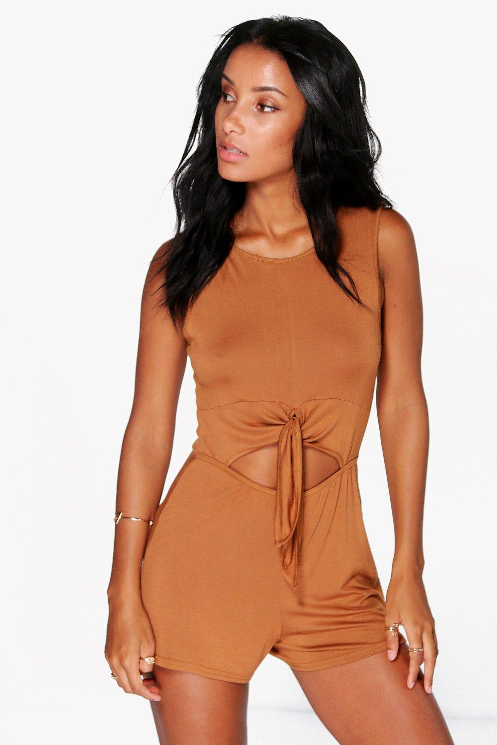 Molly Tie Front Sleeveless Playsuit