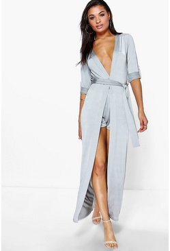 Audrina Tie Waist Duster & Shorts Co-Ord Set