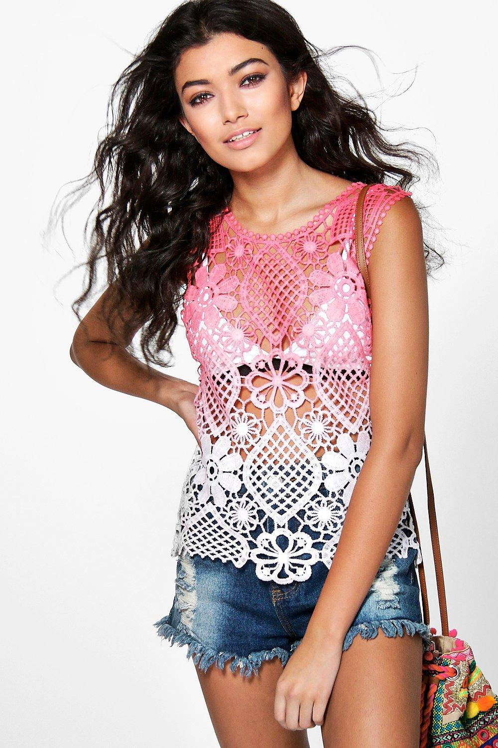 Faith Tie Dye Crochet Vest
