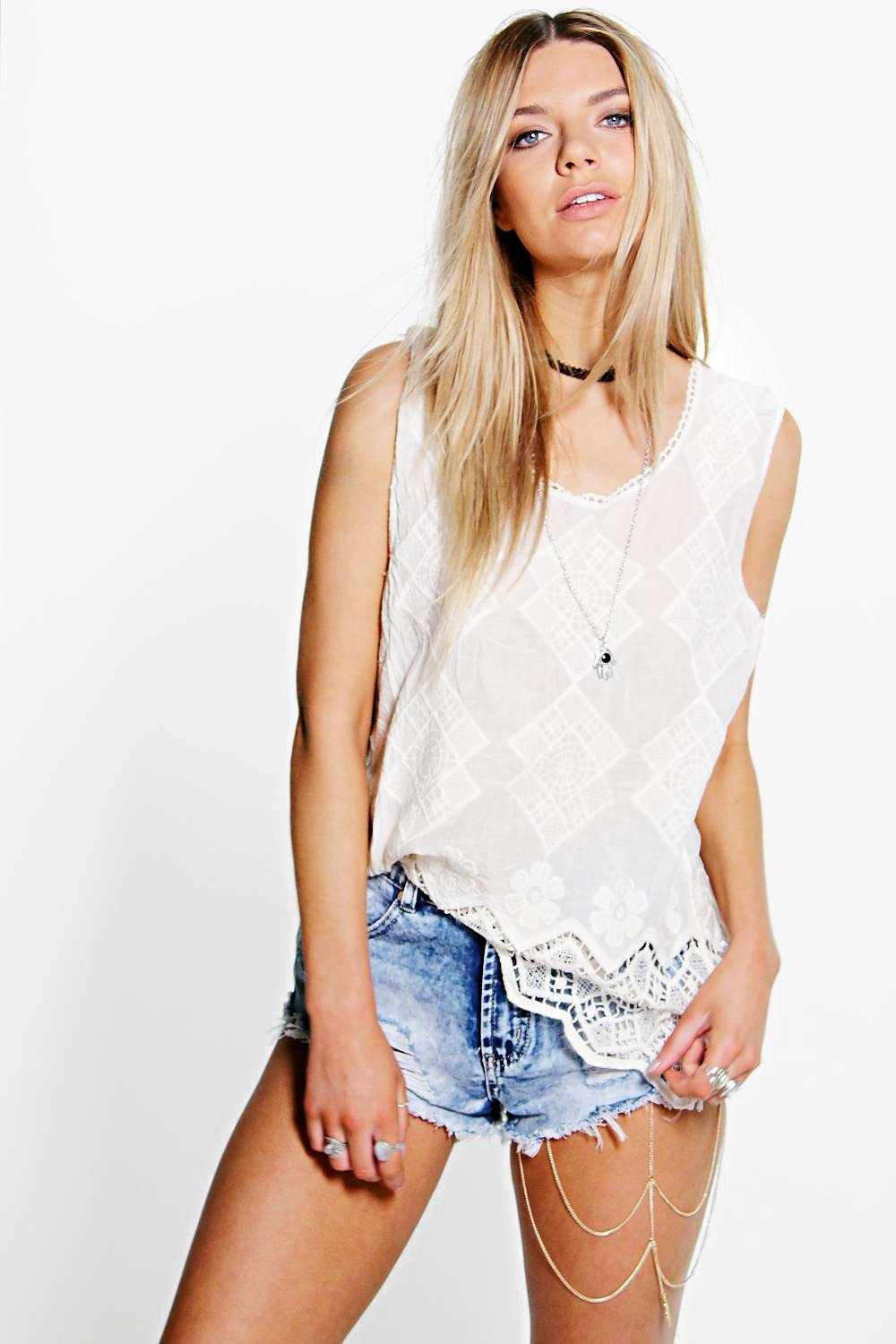 Georgia Crochet Trim Vest