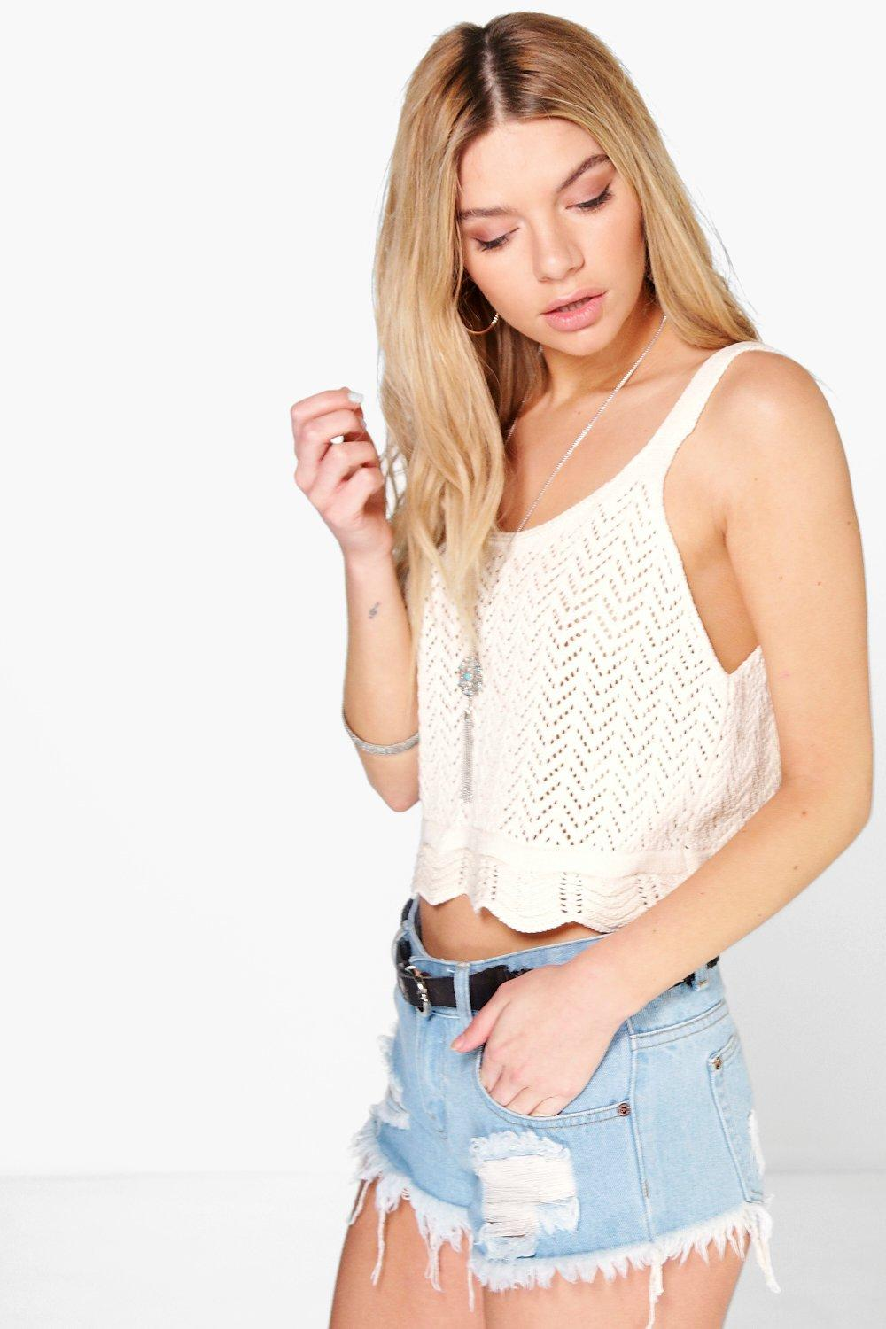 Jasmine Crochet Knit Swing Cami