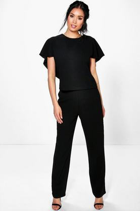 Holly Woven High Waist Straight Leg Trouser