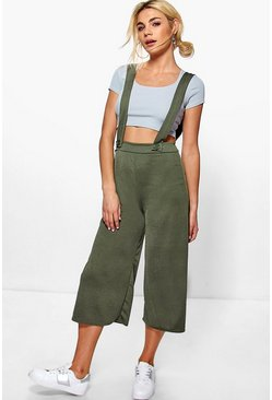 Bex Cropped Length Dungaree Style Trousers
