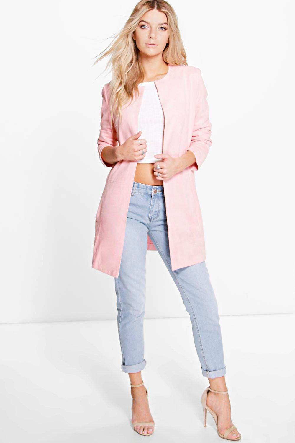 Boutique Katie Suede Duster Coat