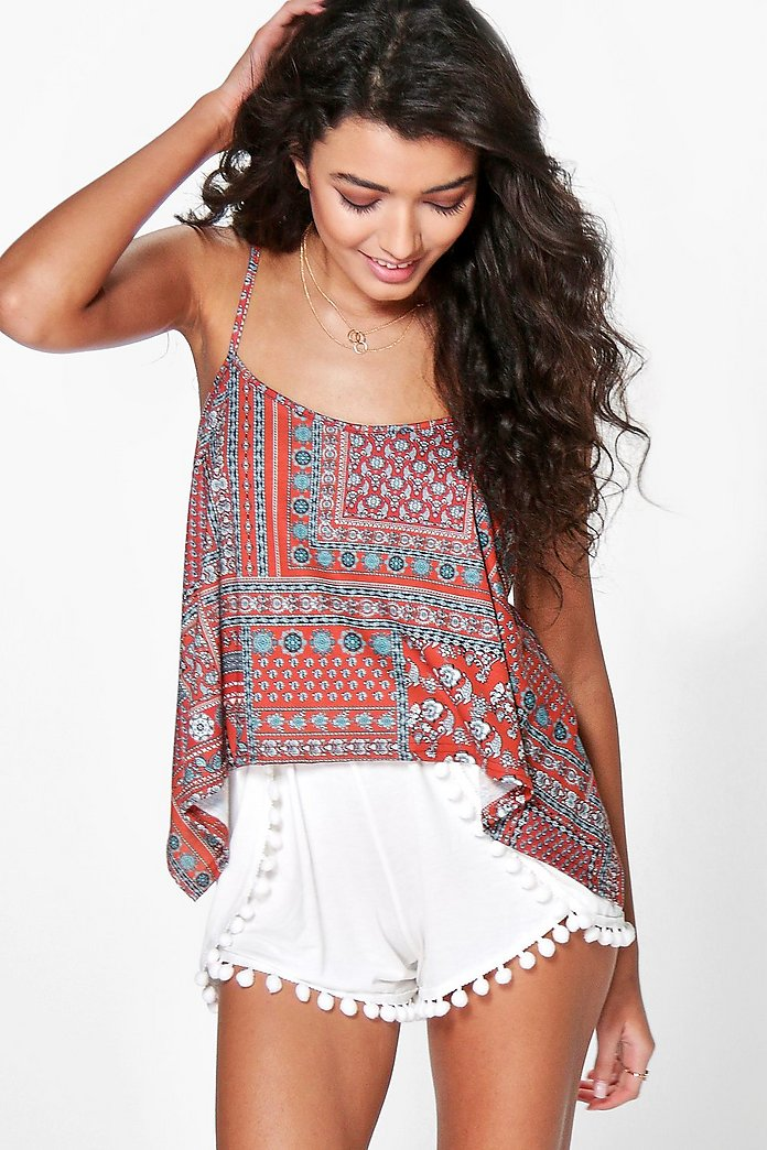 Amy Pom Pom Trim Runner Shorts