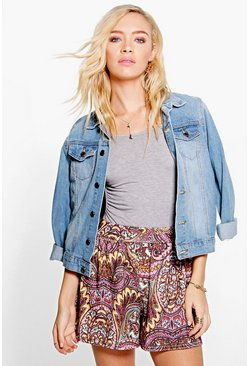 Rose Multi Paisley Print Flippy Shorts