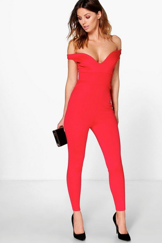Amy Off The Shoulder Sweetheart Neck Jumpsuit