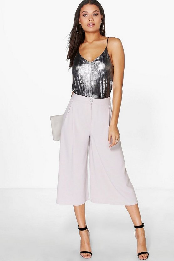 Orianna Pleat Front Wide Leg Tailored Culottes