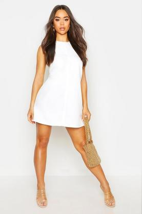 Abbey Tab Side Shift Dress