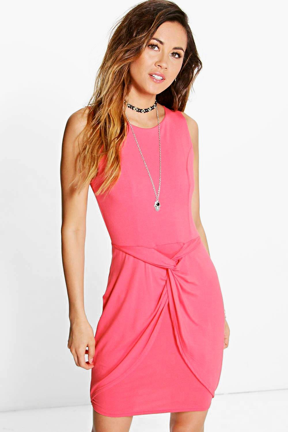 Hedvig Knot Front Wrap Bodycon Dress