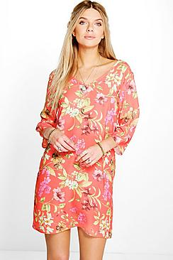 Emmaline V Front & Back Shift Dress