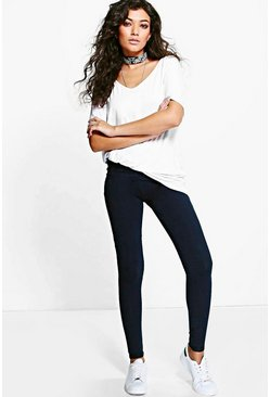 Nia Premium Pocket Back Denim Look Jeggings