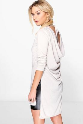 Esme Drape Back Tie Up Knitted Tunic